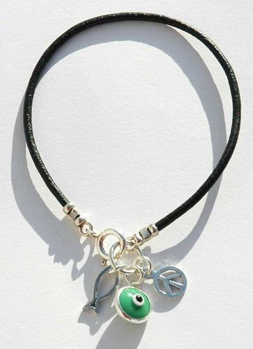 Green Peace Charms Bracelet