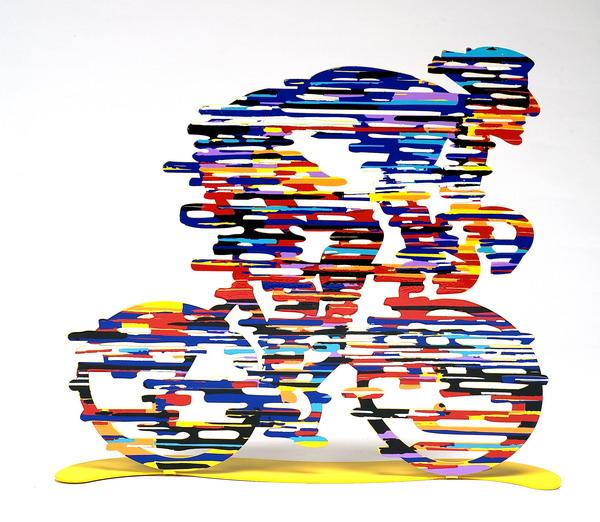 """David Gerstein """"Armstrong Bike Rider"""" Free Standing Sculpture"""