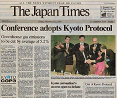 Kyoto Protocol Newspaper