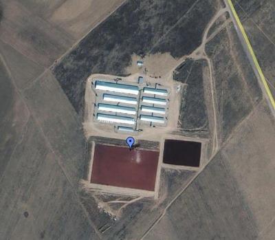 L'impianto di macellazione della Carrol Farm a pochi km da Perote, Messico, dove si è verificato il primo caso di influenza suina